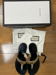 Gucci GG Marmont Thong T-Strap Sandal Size 39