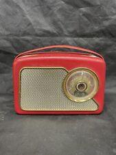 More details for vintage 1959 dansette transistor radio 111 - red - portable