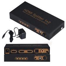 3D 1080P 1x2 Port HDMI Splitter With EDID Setting/ARK/Audio Extractor Converter