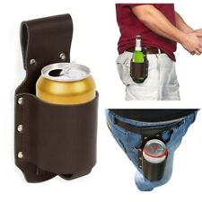 PU Leather Hiking Waist Beer, Water, Bottle Belt Beverage Can Holder