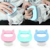 Pet Cat Dog Massage Shell Comb Grooming Hair Removal Shedding Cleaning Brush AU.