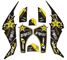 DECAL STICKER Kit En Vinilo Mx Se Ajusta Suzuki LTZ 400 Black Star (no Oem) 03-08