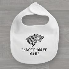 Personalised Game of Thrones Baby Bib, Feeding Dribble Bandana Muslin