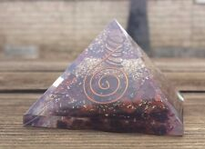 LARGE (60-65mm) RED TIGER EYE ORGONE GEMSTONE PYRAMID LARGE PYRAMID ORGONITE