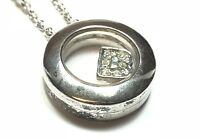 Beautiful Ladies Sterling Silver 'B' CZ Pendant & Necklace - Signed Linx & More