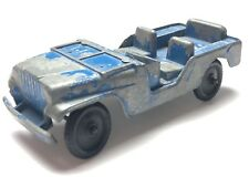 Vintage Tootsie Toy 1950's Collectible Diecast Jeep Larger Scale Blue Original