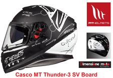 Casco Integrale Doppia Visiera MT Thunder-3 SV Board Nero Opaco Taglia XS 53/54