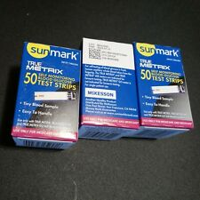 150 Sunmark True Metrix Blood Glucose Test Strips ( 3 @ 50 each ) exp 7/2021 +