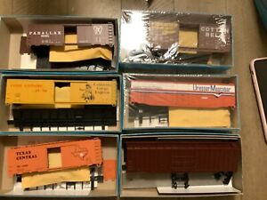 VTG  Athearn Unbuilt HO Train BOX Car NOS New Old Stock Lot of 6