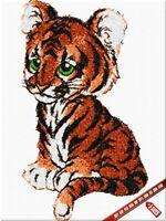 Kleiner Tiger Stickerei Design. Maschinen stickdateien. Digitalisierte Zeichnung