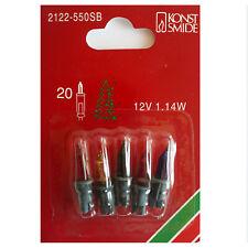 Ersatzlampen für Mini-Lichterkette, Pisellokerze 12 Volt 1,14 Watt, 5er P., bunt