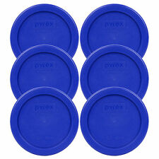Pyrex 7202-PC Cobalt Blue Lid Replacement Storage Cover 6 Pack For 1 Cup Bowl