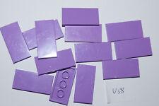 LEGO 13 PURPLE 2x4 smooth floor TILES / Blocks # 87079 HOUSE CASTLE (U58 GENUINE