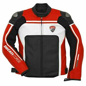 New Ducati Corse C4  Motorbike Racing Leather jacket In All Sizes