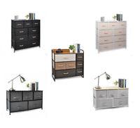 Cerbior Multi Drawers Dresser Bedroom Organizer  High Storage Tower Chest Fabric