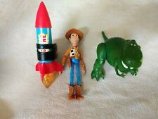 TOY STORY THE BIG ONE ROCKET w/ WOODY cowboy, Rex, figure lot