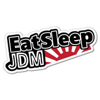 Eat Sleep Jdm Rising Sun Sticker Decal JDM Car Drift Vinyl Funny Turbo