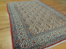 Unique Persian Antique  4x6, 5x7 Oriental Area Rug Paisley wool blue gold