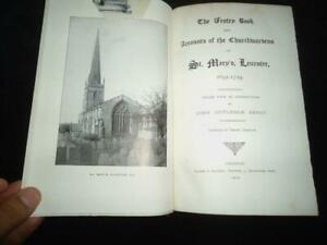 St. Mary's Leicester 1652-1729 Vestry Book Accounts Churchwardens local history