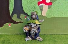 Fiddlehead Fairy Garden Miniature Wizard Troll w/ Owl and Gazing Ball New