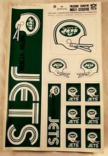 11 Vintage 1973 Hallmark New York Jets Vinyl Decal Stickers Window Bumper