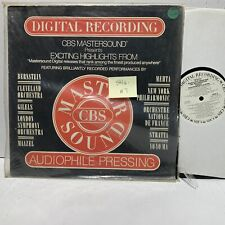 Highlights From New CBS Mastersound Masterworks Albums Promo VG++
