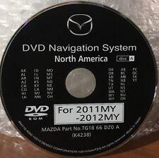2009 2010 2011 2012 Mazda Mazda6 CX-9 Navigation OEM DVD WEST Map Release 2012