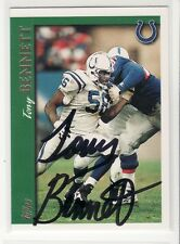 TONY BENNETT INDIANAPOLIS COLTS 1997 TOPPS #257 MISSISSIPPI  AUTOGRAPHED CARD