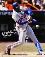 Vladimir Guerrero Autographed Expos 16x20 PF Swinging Photo w/ HOF- JSA Auth *Wh