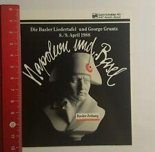 Aufkleber/Sticker: Napoléon und Basel Basler Zeitung (09091675)