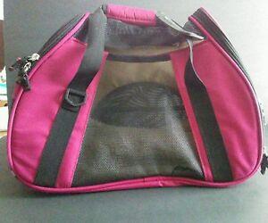 "Bergan 20544 Sangria Sm Pet Hand Carry Travel Soft Comfortable Carrier 14x13x7"""