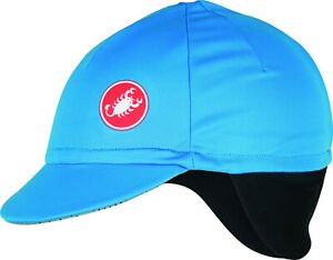 Castelli Men's Difesa Thermal Wind & Rain Protection Cycling Cap Hat w/ Earflaps