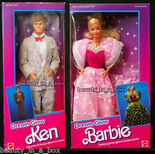Dream Glow Barbie Doll & Ken Doll Vintage 1985 Classic NRFB