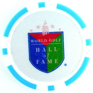 WORLD GOLF HALL OF FAME (Blue) POKER CHIP Golf BALL MARKER