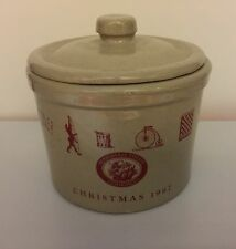 Marshall Fields 1987 Christmas Crock with Lid - Excellent Condition!