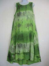 Lagenlook Ladies 100% Cotton Summer Dress Longer Length Unlined Plus Size 16-20