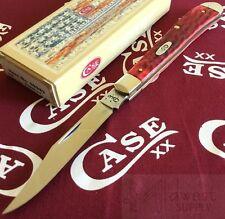 Case XX SlimLine Trapper Knife CV Carbon Steel Blade Bone Handle Knives USA Made