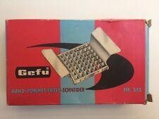 Gefu Hand-Pommes-Schneider Nr. 345 OVP ca. 1960er Jahre