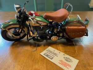 """FRANKLIN MINT 2006 HARLEY-DAVIDSON """"PANHEAD"""" LIMITED EDITION 1:10 SCALE"""