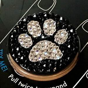 Bling Paw Black Popsocket Phone Grip/Phone Stand made with Swarovski Crystals