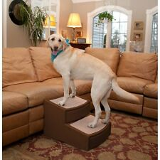 Pet Gear Easy Steps II Extra Wide Large Dog 2 Step Stair Chocolate up to 200 lbs