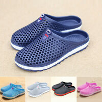 Women Men Summer Slippers Beach Shoes Hollow Sandals Bath-Breathable Flip Flops