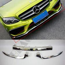 3x For 2014-17 Mercedes Benz w205 C-Class C300 C350 C180 Front Bumper Cover Trim