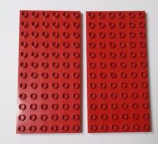 Duplo 2 Red Base Plates baseplates 6 x 12 dots Child Building Toy Creative Play