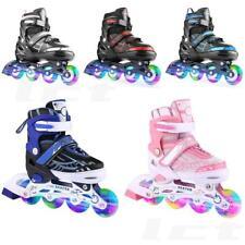 Inline Skates for Men Women Size 7 8 9 9.5 Adjustable Roller Blades Black-Blue