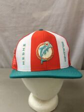 trucker hat baseball cap Vintage Mesh Snap Back PATCH MIAMI DOLPHIN NFL with tag