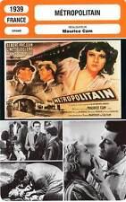 FICHE CINEMA : METROPOLITAIN - Préjean,Leclerc,Cam 1939
