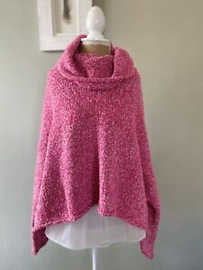 Free People BFF Pink Super Soft Oversized Jumper Small UK 8/10/12