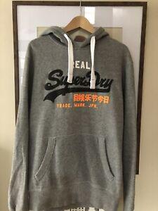 Mens Superdry Hooded Sweatshirt, Size Medium