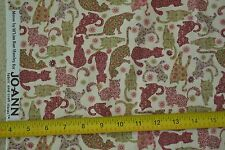 "By-the-Half-Yard, 43"" Wide, Calico Cats on Cream Quilter's Cotton, JoAnn, M6450"